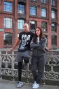 NINJA WARRIOR FREERUN Parkour training jumpers dark gray melange with deep zipper side pockets!