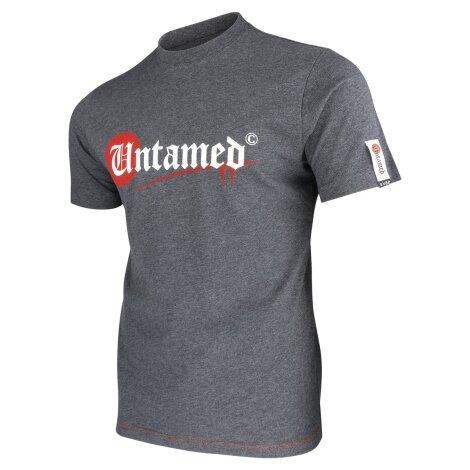 UNTAMED PARKOUR Logo Signature T-Shirt grey melange!