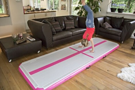 Home and Garden Airtrack Mats for Home Use Set - blue and pink!