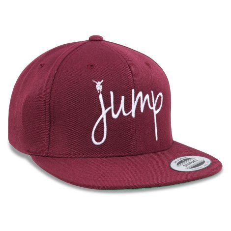 """JUMP"" gorra snapback granate-borgoña!"